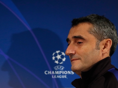 Champions League Barcelona coach Ernesto Valverde finds silver lining in postponement of first Clasico