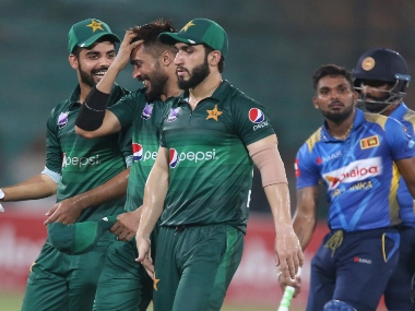 Pakistan players walk off the field after the second ODI. AP