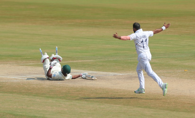 Mohammed Shami took a five wicket haul on the fifth day of the first Test against South Africa. AP