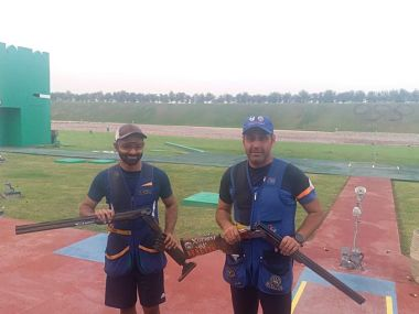 Asian Shooting Championship Angad Bajwa Mairaj Khan clinch 12 finish in mens skeet event to extend Indias Olympic quota