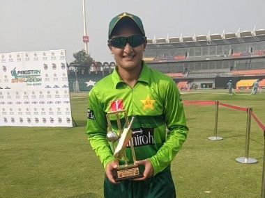 File image of Bismah Maroof. Image credit: Twitter/@TheRealPCB