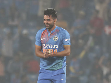 Chahar became the first Indian to take a hat-trick in the shortest format. AP