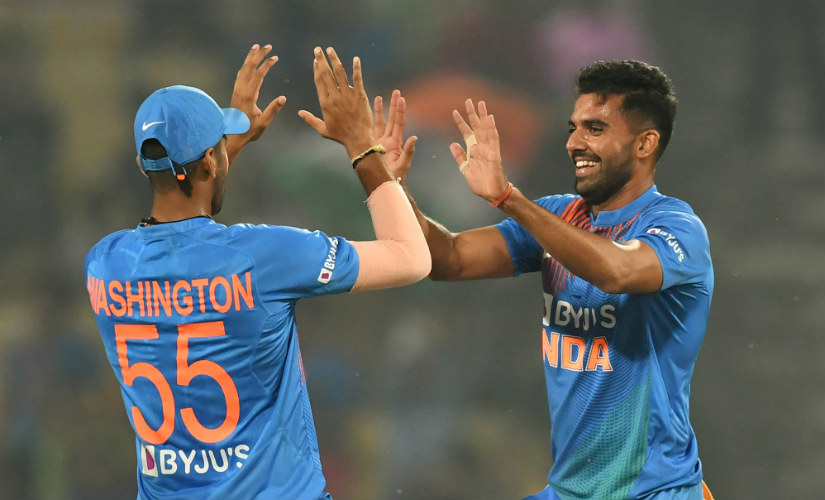Deepak Chahar (6/7) registered the best-ever figures by an Indian in men's T20Is in the series-decider at Nagpur. AFP