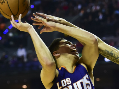 NBA Devin Booker helps Suns end Sixers unbeaten run Golden State Warriors record first win at new home arena