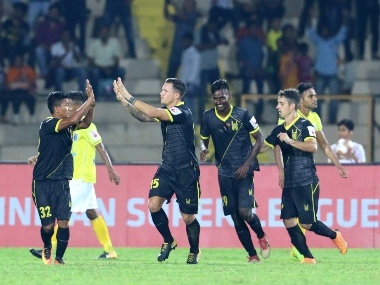 ISL 201920 Hyderabad FC come from behind to record first victory of season against Kerala Blasters FC