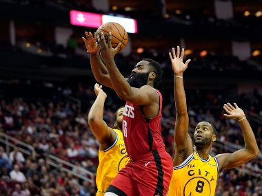 NBA James Harden stars in Golden State Warriors rout at hands of Houston Rockets Utah Jazz ease past Philadelphia 76ers