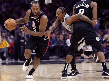 NBA Kawhi Leonard Montrezl Harrell star for LA Clippers hand San Antonio Spurs first defeat