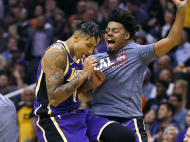 NBA Kyle Kuzmas late surge helps Lakers bounce back with victory over Suns Sixers win thriller against Cavaliers