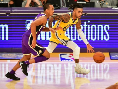 NBA LA Lakers guard Avery Bradley could miss two weeks of action due to right leg fracture