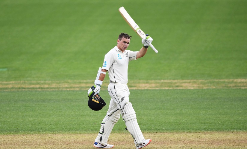 New Zealand opener Tom Latham continues rich vein of form as he strokes century on opening day of second Test against England at Seddon Park. AP