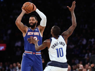 NBA Marcus Morris sinks clutch threepointer to power Knicks to victory Heat hold on against Cavaliers