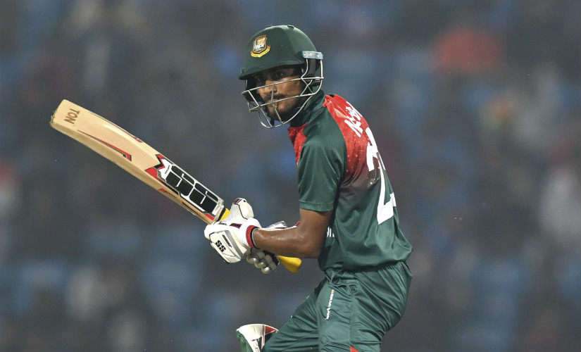 Mohammad Naim's 48-ball 81 almost single-handedly kept Bangladesh in the hunt after being set 175 ton win in the third T20I against India. AFP