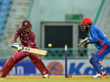 Nicholas Pooran top-scored for the Windies with a 50-ball 67 in the second ODI of the three-match series. AFP