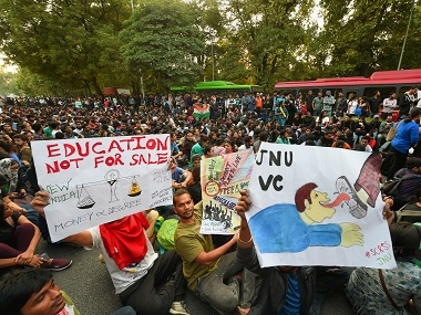 JNUSU blames vicechancellor M Jagadesh Kumar for continuing crisis in university urges HRD ministry to remove him from post