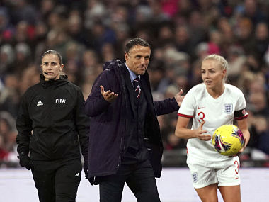 Coach Phil Neville says England women football teams form is unacceptable after narrow loss to Germany