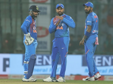Rohit Sharma (Captain) of India ask for review during the 1st T20I match between India and Bangladesh held at the Arun Jaitley Stadium, Delhi on the 3rd November 2019. Photo by Deepak Malik / Sportzpics for BCCI