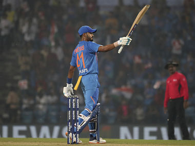 Shreyas Iyer played a knock of 62 runs in the final T20I against Bangladesh. AP