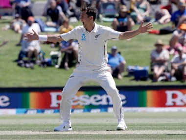 New Zealand's Trent Boult will miss the second Test due to a rib strain. AP