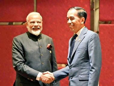 Narendra Modi Indonesian president Joko Widodo meet on sidelines of ASEAN summit resolve to work closely against terrorism extremism