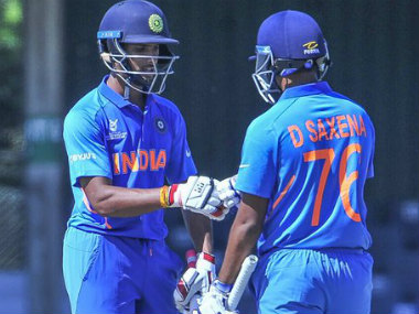Divyaansh Saxena (86 not out) and N Tilak Varma (59) shared a 127-run stand to take the game away from South Africa. Twitter @OfficialCSA
