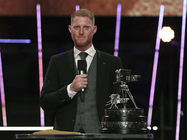 Ben Stokes speaks after receiving The BBC Sports Personality of the Year Award during a ceremony in Aberdeen, Scotland. AP