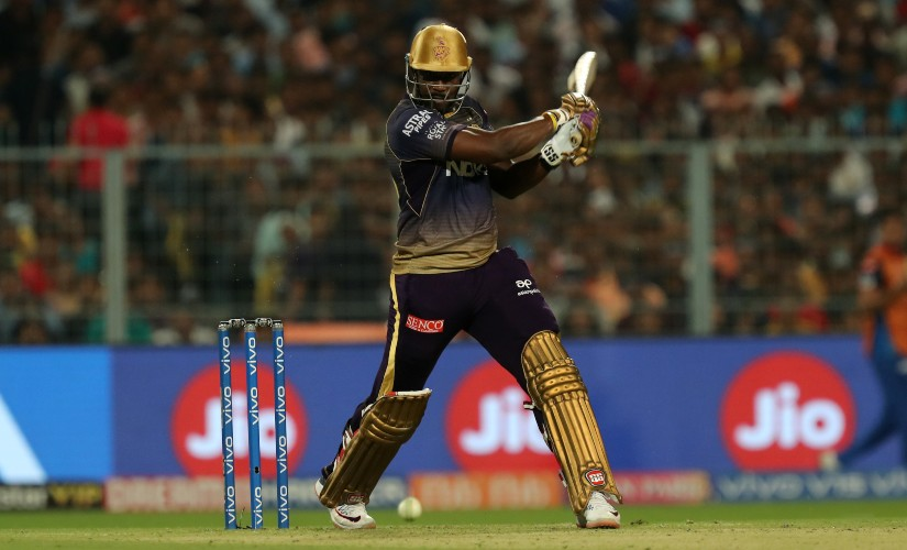 Andre Russell of Kolkata Kinght Riders during a match between the Kolkata Knight Riders and the Delhi Capitals. SportzPics