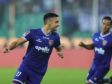 ISL 201920 Firsthalf goalfest sees Chennaiyin FC rise to eighth with victory over Southern rivals Kerala Blasters
