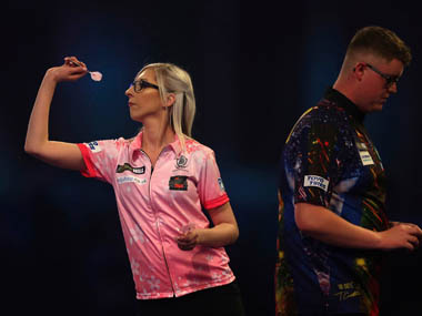 Trailblazing Fallon Sherrock becomes firstever female darts player to win at PDC World Championship