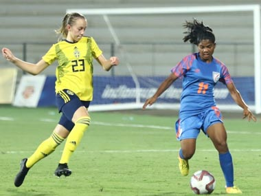 Sweden beat India 30 in opening game of threenation U17 womens football tournament