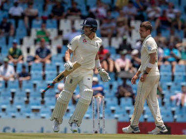 Joe Denly top scored for England with 50 in the first innings. AP