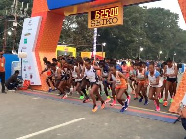 Kolkata 25K Race Leonard Barsoton Guteni Shone break course records to clinch mens and womens title respectively