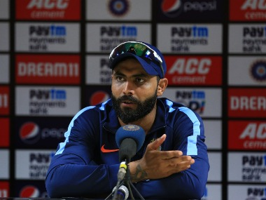 Ravindra Jadeja addresses the media in a press conference after the third one-dayer. Sportzpics