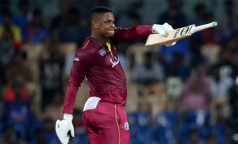 Shimron Hetmyer was awarded the player of the match for his knock of 139 off 106 balls. AP