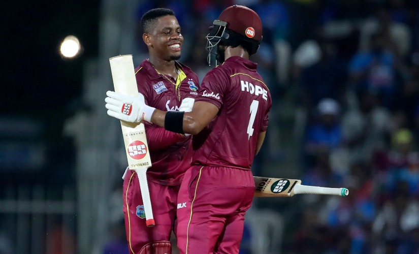 Shimron Hetmyer and Shai Hope's 241-run partnership helped West Indies clinch the first ODI by eight wickets. AP