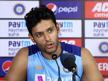Shivam Dube speaks to the media after second India-West Indies T20I. Sportzpics Photo by Faheem Hussain / Sportzpics for BCCI