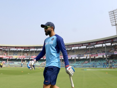 Virat Kohli captain of India before the start of the 2nd ODI between India and the West Indies held at the ACA-VDCA Stadium, Visakhapatnam on the 18th December 2019. Photo by Vipin Pawar / Sportzpics for BCCI