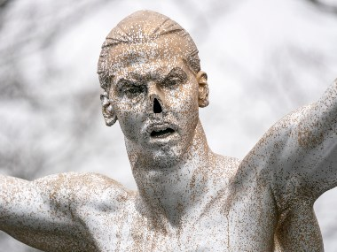 Vandals chop nose off of Zlatan Ibrahimovics statue in Stockholm after stars investment in Swedish club Hammarby