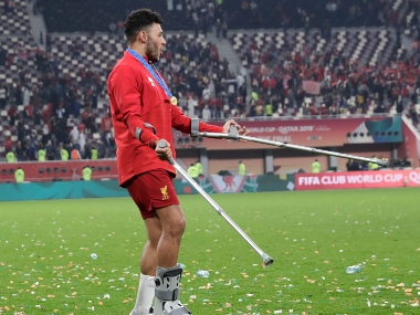 Premier League Liverpool midfielder Alex OxladeChamberlain sidelined for upcoming games in busy festive period with ankle injury