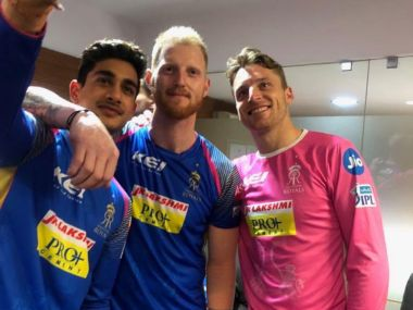 Aryaman Birla (L) was part of Rajasthan Royals in the IPL but didn't play a game. Source: Twitter