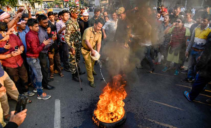 North East erupts in protest against Citizenship Amendment Bill SMS internet suspended in Tripura protests in Assam Meghalaya Arunachal throw normal life out of gear