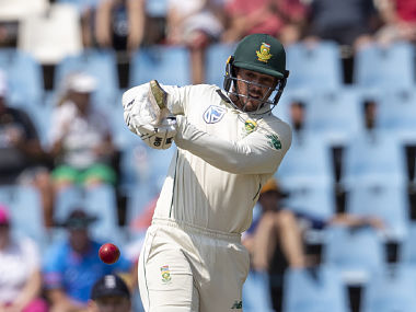 Quinton de Kock led a middle-order revival for South Africa with his 95 off 128 balls. AP