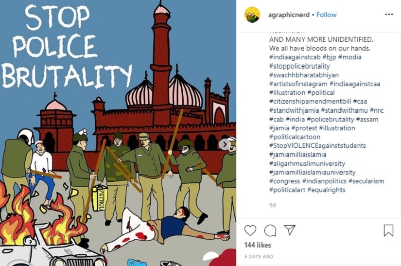 Amid antiCAA NRC protests artists in India are creating  and sharing  a portrait of dissent