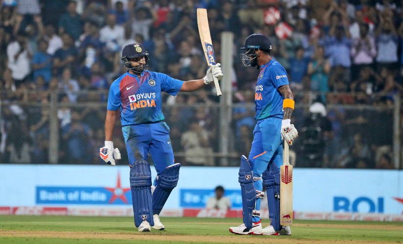 Rohit Sharma scored 71, while KL Rahul scored 91 while opening the innings to set up the winning total of 240/3 for India.