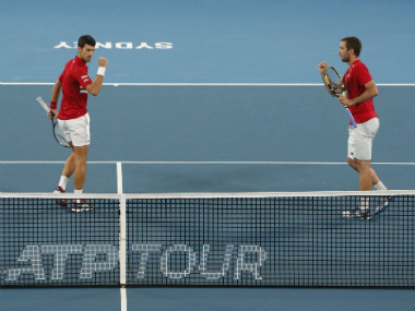 ATP Cup 2020 Novak Djokovic beats Rafael Nadal later teams up with Victor Troicki to secure Serbias victory in final