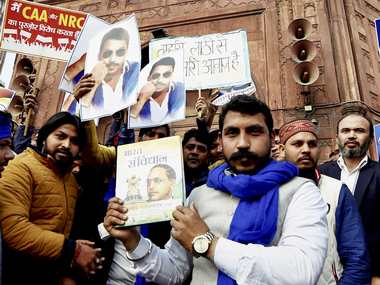 Will continue protest against CAA till repealed Bhim Army chief Chandrashekhar Azad visits Jama Masjid after getting bail
