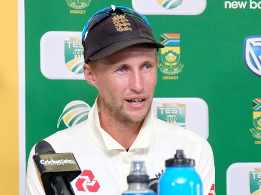England captain Joe Root addresses the media ahead of the fourth Test against South Africa at Johannesburg. AP
