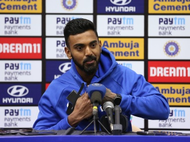 KL Rahul during the press conference after the 2nd India-Australia ODI. Sportzpics