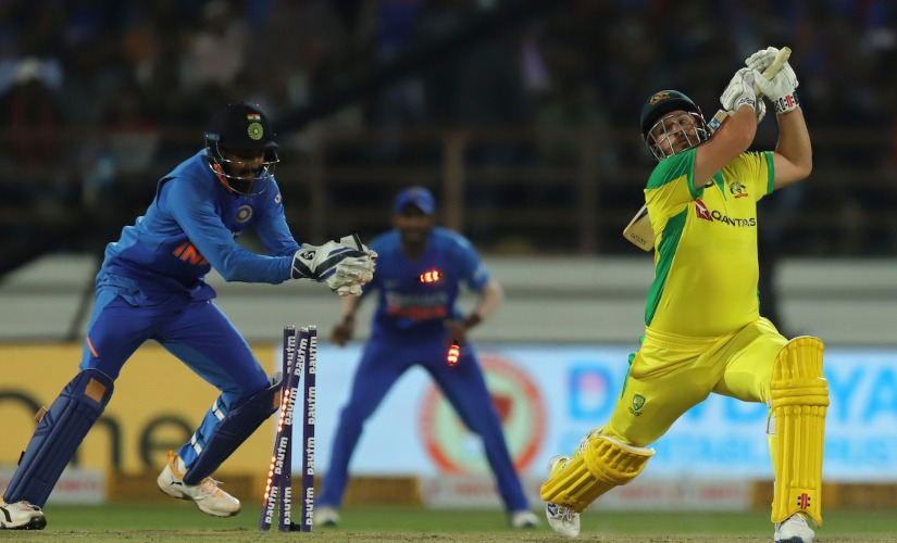 KL Rahu impressed with his wicket-keeping in the Rajkot ODI. Sportzpics