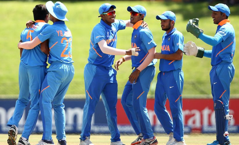 Kartik Tyagi's searing opening spell led India to a win over Australia in quarter-finals of ICC U19 World Cup. Photo credit: ICC