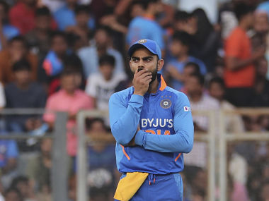 Virat Kohli, whose usual batting position is number three, pushed himself down the order to accommodate openers Shikhar Dhawan and KL Rahul. AP